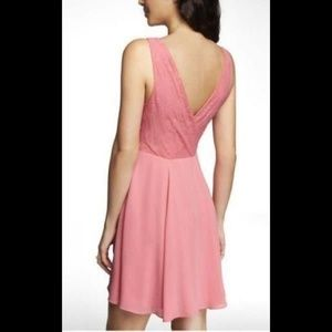 Express Dresses - Express Mixed Media Fit & Flare Dress 8